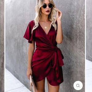 Vici! Wine wrap dress!
